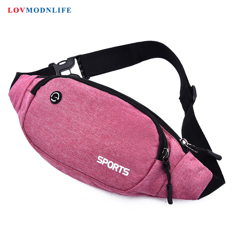Fashion Pink Fanny Pack Belt Bag For Girls Women's Shoulder Waist Pack Bag Female Men's Banana Chest Bag Phone Bum Bags Unisex