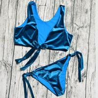 ZTVitality Brazilian Bikini 2017 New Arrival Blue Bandage Biquini Sexy Low Waist Swimsuit Swimwear Women Bathing