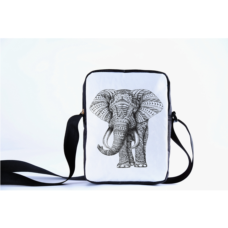 CROWDALE Women Messenger Bags 3D Denim Animal Shoulder Bag Handbags Cute elephant Messenger Bag Children Cross body Bag