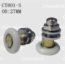 Bathroom accessories glass hardware shower room copper pulley bearings OD:27MM