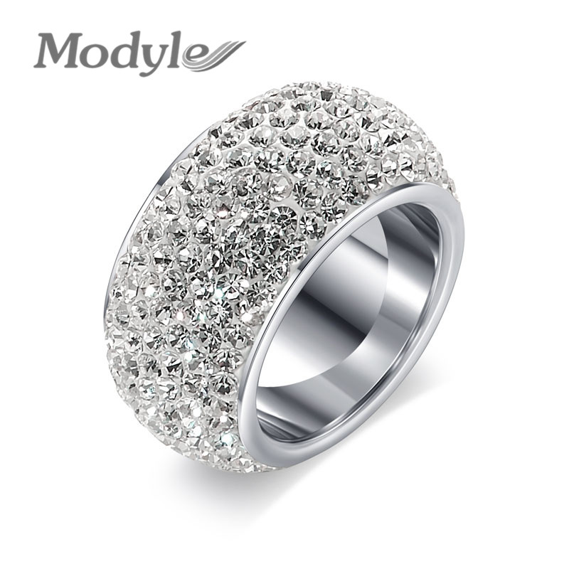 modyle brand wedding engagement ring for women cubic zirconia jewelry gift for girl bijoux four claw rings - Girl Wedding Rings