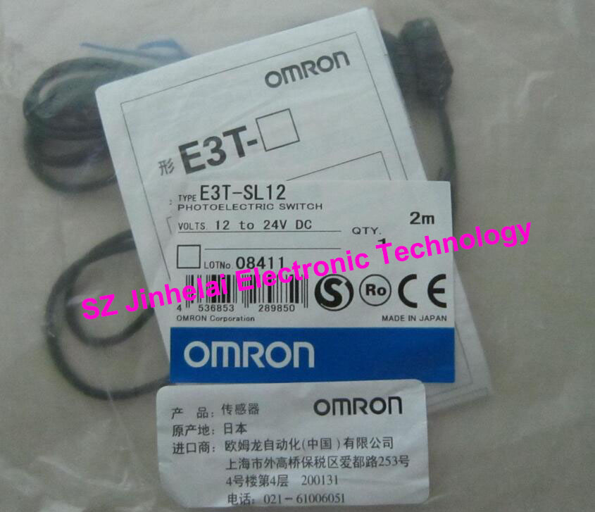 New and original E3T-SL12, E3T-SL22 OMRON Photoelectric sensor Photoelectric switch 12-24VDC 2M omron photoelectric switch sensor built in micro diffuse 2m e3t sl11