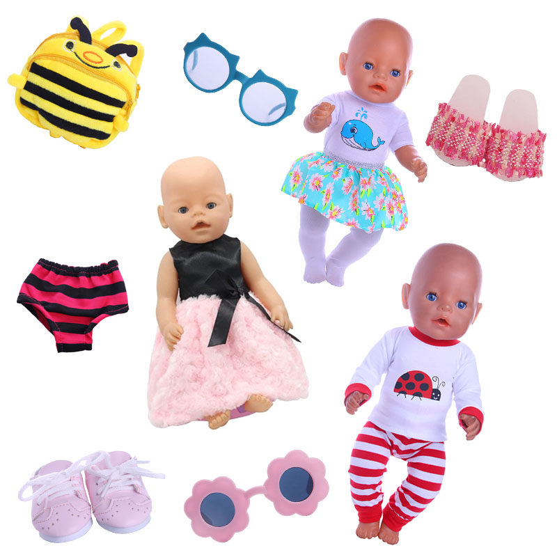 2018 New Doll Accessories Various Styles of Clothing Suits for 18-inch American Girl Dolls or 43 cm Baby Born Doll american girl doll clothes superman and spider man cosplay costume doll clothes for 18 inch dolls baby doll accessories d 3