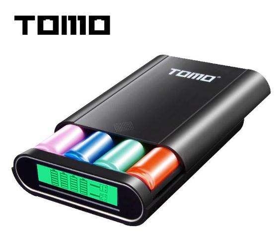 TOMO T4 Smart Power Charger C4 X 18650 Li-ion Battery 5V 2A Powerbank Case Portable DIY Power Bank Box Charger For 18650 Battery