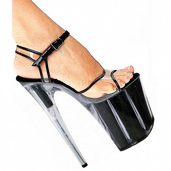 Sexy Stiletto glitter High Heels Open Toe Gladiator Sandals Womens Shoes 20cm High-Heeled Crystal Shoes Platform Dance Shoes denim zipper hollow worn stiletto womens sandals