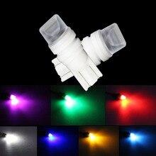 цена на 2pcs Ceramic 3D Led Car DC 12v Lampada Light T10  194 168 w5w T10 Led Parking Bulb Auto Wedge Clearance Lamp