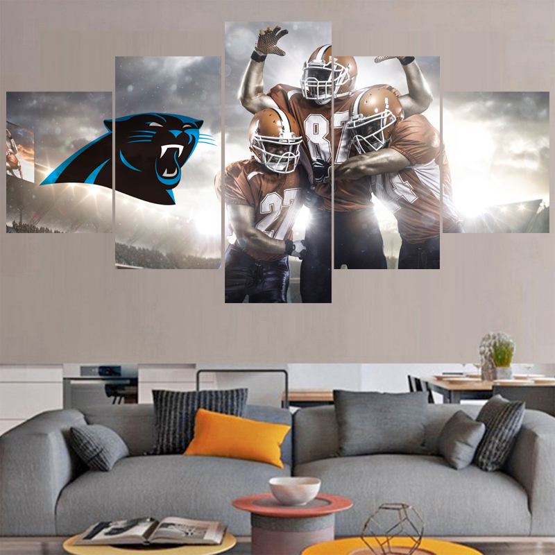 Rugby Ball Logo Paintings Carolina Panthers Modern Home Decor Living Room Bedroom Wall Art Canvas Print Painting Calligraphy In From
