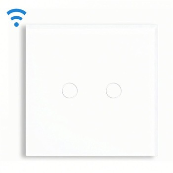 Bseed Wireless Touch Switch 2 Gang 1 Way Dimmer Switch With Remote Control White Touch Switch Dimming Led Eu Uk Us Au smart home us black 1 gang touch switch screen wireless remote control wall light touch switch control with crystal glass panel