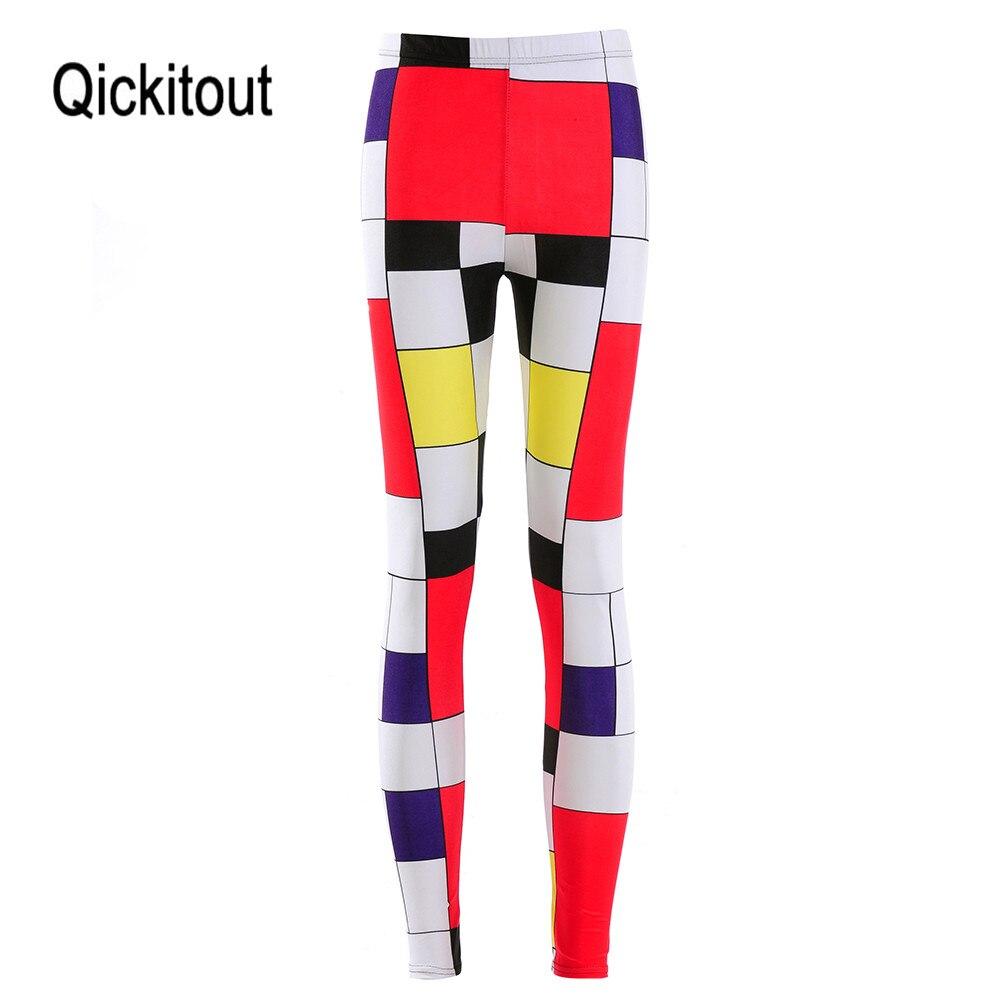 HOT Sexy Fashion Slim Pirate Leggins Pants Digital Printing MONDRIAN   LEGGINGS   - LIMITED For Women
