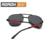 2016 novos homens de óculos de sol óculos de moda de qualidade dobrável óculos de sol por atacado A345 e caixa