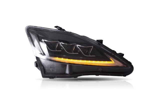 EMS ship!2pcs LED IS300 headlight for IS250 2009 2010 2011,is300 bumper light daytime lamp DRL car accessories IS 300 IS 250