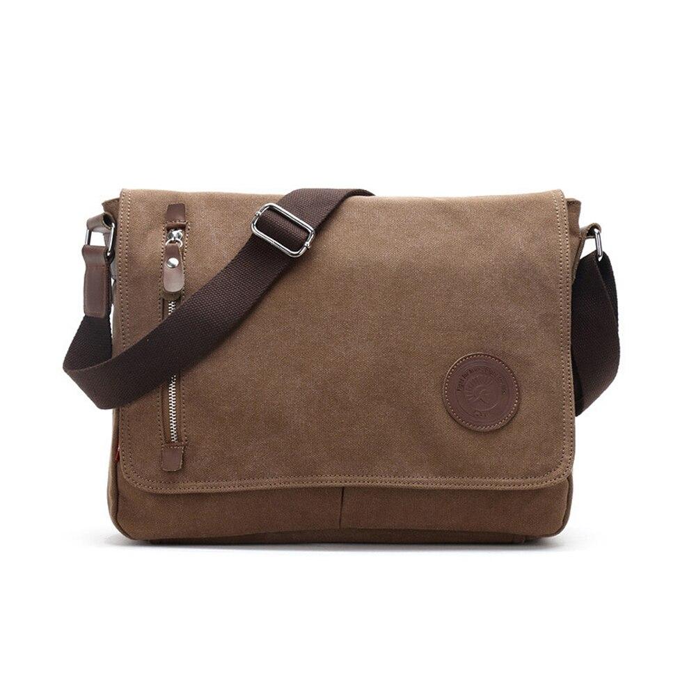 Vintage Handbag Crossbody-Bag Belt Messenger-Bags Canvas Multifunctional Casual Solid