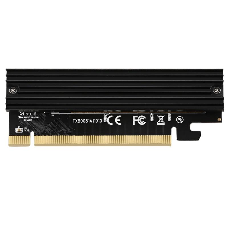M.2 nvme ssd adaptador m2 para pcie 3.0x16 controlador cartão m interface chave suporte pci express 3.0x4 2230-2280 tamanho frete grátis