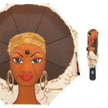 Африканский женский автоматический складной зонт от дождя, женские сильные 8K ветрозащитные Зонты на заказ, автоматический открытый и закрытый зонтик