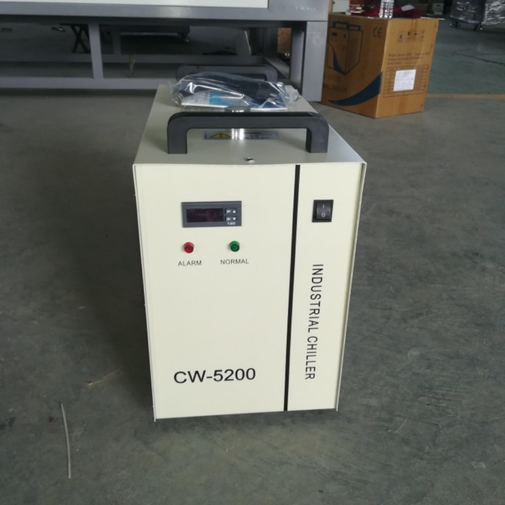 Free shipping hot sell indrustry CW5200 water chiller cooling for  100w or 150w laser tube -in Woodworking Machinery Parts from Tools