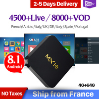 IPTV France Box MX10 Android 8 1 RK3328 1 Year QHDTV IUDTV SUBTV Code IPTV Spain