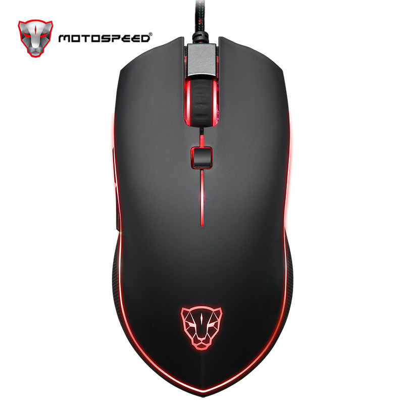 Motospeed V40 Professional Gaming Mouse USB Wired USB Optical Mouse Gamer 3500DPI Ergonomic Mice RGB LED Backlight for PC Laptop-in Mice from Computer & Office