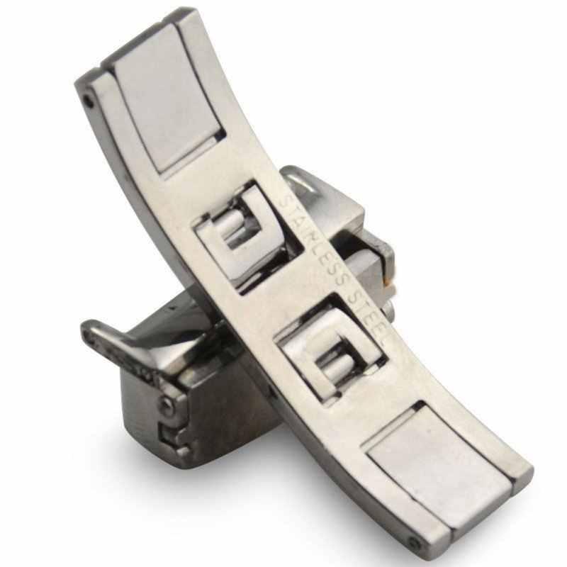 16/18/20mm 1 Peça de Aço Inoxidável Implantação Fecho Fivela Para Watch Strap Banda Nova