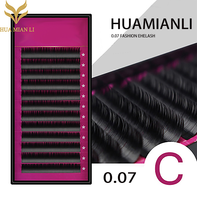 HUAMIANLI 20pcs/lot All Sizes Mink Eyelash Extension Artificial Eyelash Fake False Eyelash 20pcs lot ls30 to252