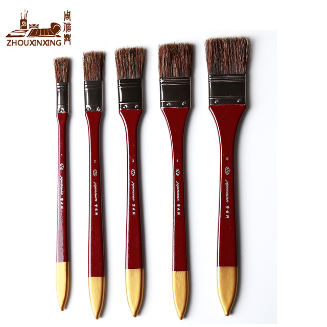 wild boar bristles acrylic paint brush 5pcs set scrubbing brush oil painting brush easy to clean. Black Bedroom Furniture Sets. Home Design Ideas