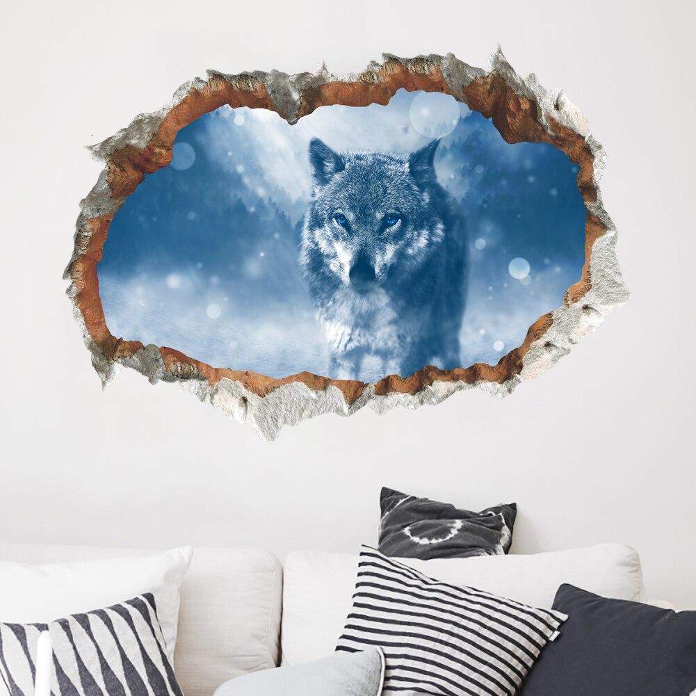 3d Broken Wall Sticker Vinyl Decal Kids Room Mural Decor Bedroom Decoration