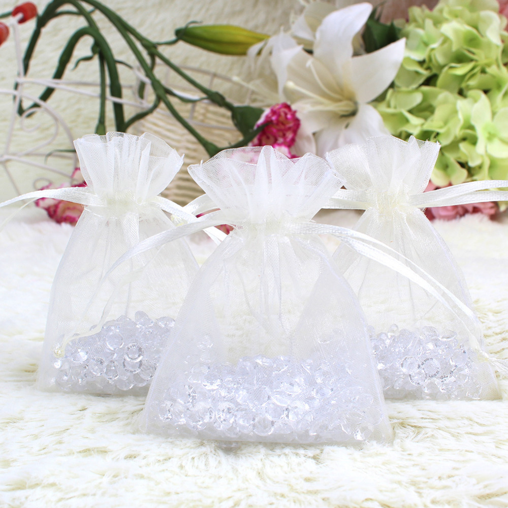 Ourwarm 100pcs Organza Gift Bag for Guests Jewelry Pouch Bags Wedding Decoration Baby Shower Birthday Celebration Party Supplies