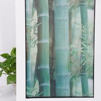 HOHOFILM 0.92x5m 3D Static Cling Film Window Film Bamboo Glass Window Sticker Privacy Stained Glass Film 36''x196.8''