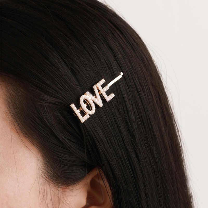 Жемчужные заколки Свадебные английские буквы Заколки для волос МЕЧТА НАДЕЖДА модные аксессуары для волос Красота головные уборы для девушек Красивая Для женщин LOVE