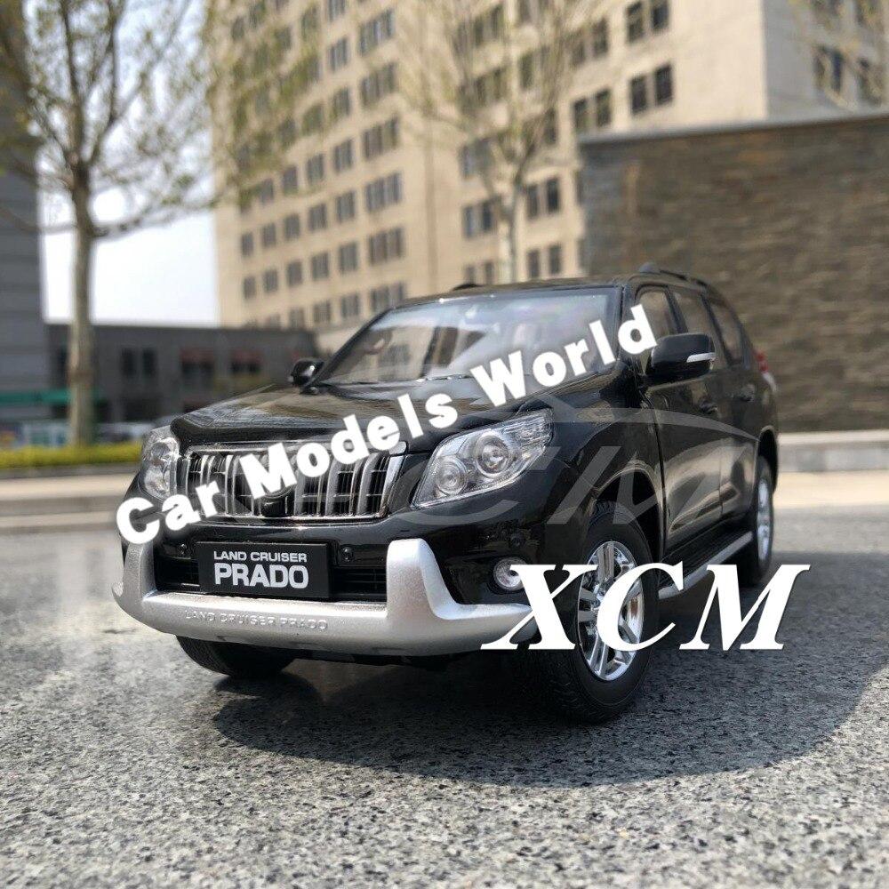 ¡Modelo de coche fundido para Land Cruiser Prado sin calcomanía 1:18 (negro) + pequeño regalo!-in Troquelado y vehículos de juguete from Juguetes y pasatiempos    1