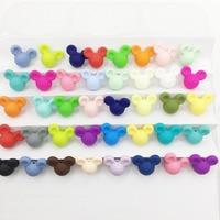 Mickey bead Wholesale Bulk silicone beads,Keroppi individual mixed color beads teething necklace baby bpa free mix