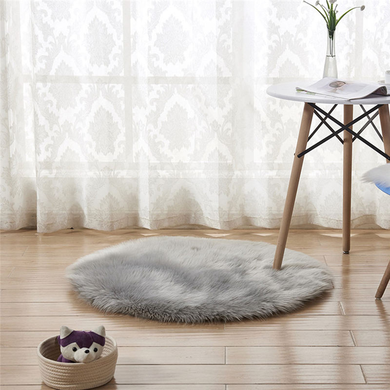 Wool Imitation Sheepskin Rugs Faux Fur Non Slip Bedroom Shaggy Carpet Mats Modern Carpets For Living Room Fashion A26@Z (20)