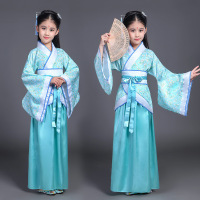 Children Chinese Traditional Dance Dress Kids Stage Princess Cosplay Copstume Girls Qing Dynasty Dance Costume Tang Clothing M92