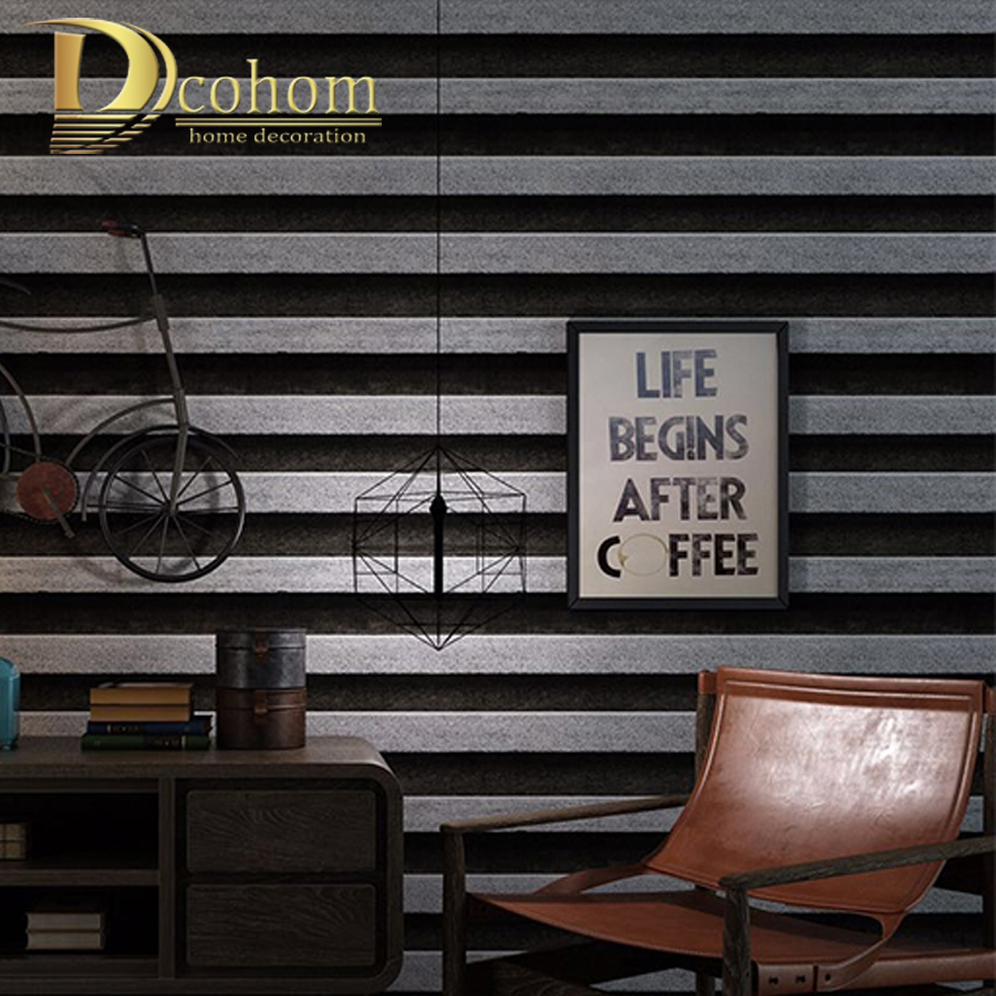 Vintage Black And White Striped Wallpaper Nostalgia Style Cafe Restaurant Background Wallpaper For Walls 3D PVC Wall Paper rolls free shipping hepburn classic black and white photographs women s clothing store cafe background mural non woven wallpaper