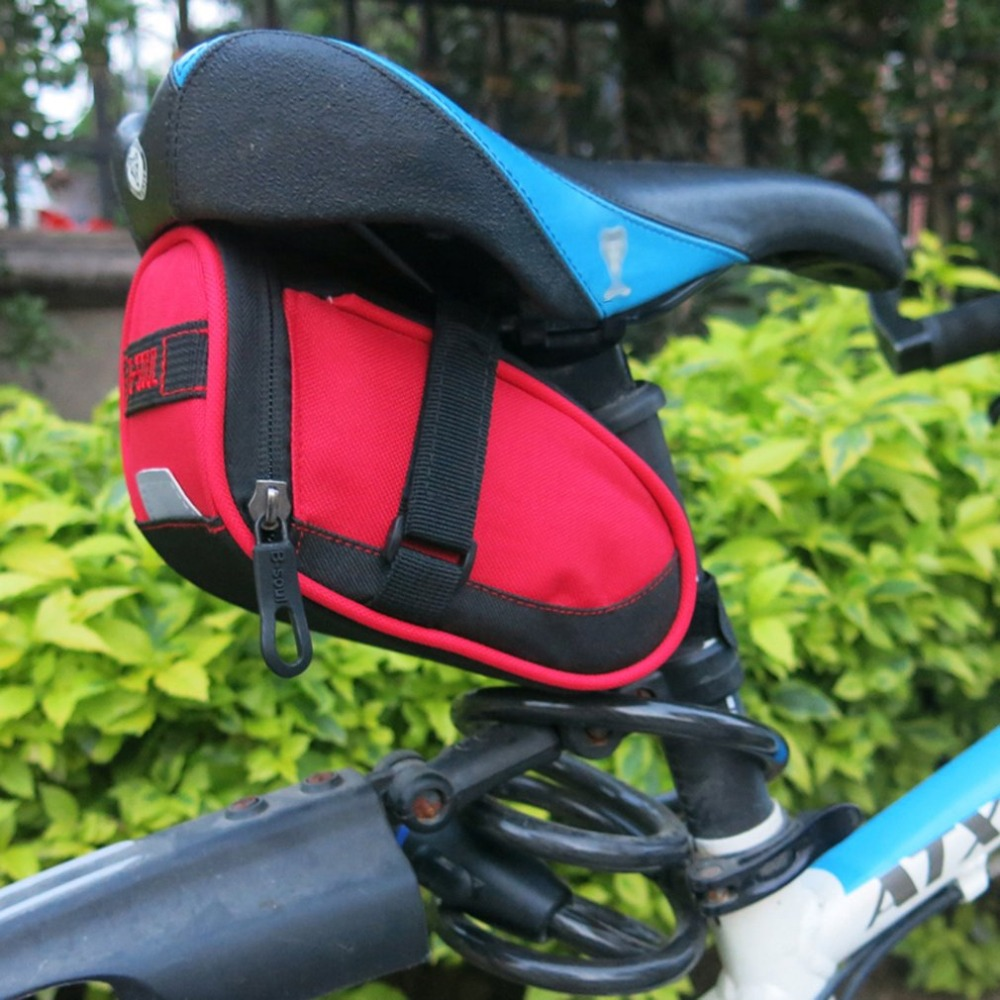 B-SOUL Mini Waterproof Bike Cycling Saddle Bag Seat Pouch Bicycle Tail Rear Stor