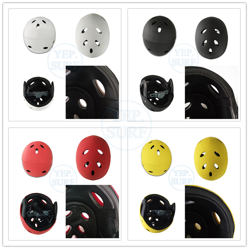 2019 News ABS Protection Safety Helmet White Red Yellow Black color For Skiing Skating Biking Paddle Board in Ski Helmets from Sports Entertainment
