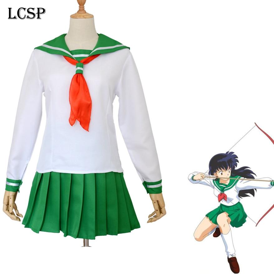 Anime Inuyasha Higurashi Kagome Cosplay Costumes Girls: LCSP Inuyasha Higurashi Kagome Cosplay Costume Japanese