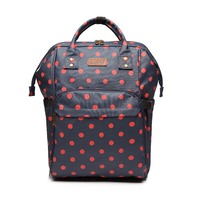 KONO Women Mummy Maternity Diaper Nappy Changing Bag Large Baby Nursing Clean Care Bags Polka Dots Travel Backpack YD6837