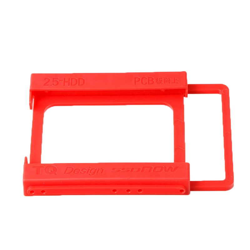 2.5-3.5 Inch Plastics Hard Disk Drive Mounting Bracket Adapter For Notebook PC SSD Holder QJY99 hot sale 1pc hard disk drive mounting bracket kit for playstation 3 ps3 slim cech 2000 fw1s for ps3 slim hard drive bracket