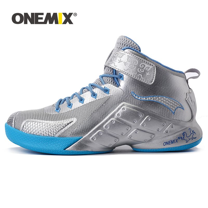 ONEMIX Men s Basketball Shoes Outdoor Classic Rubber Sole Man Ball Ankle Boots Sports Shoes Sneakers
