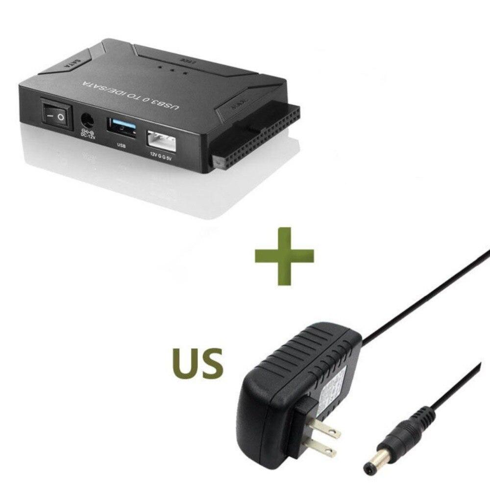 Kit de adaptador de disco duro externo convertidor USB 3,0 a IDE y SATA para discos de disco duro SSD IDE 3,5 /2,5 con Cable USB 3,0