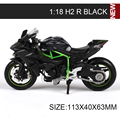 KWSK Motorcycle Models H2R ZX14R Ninja ZX10R ZX12R AX9R Vulcam KLX250 KX250 1:18 scale miniature race Toy For Gift Collection