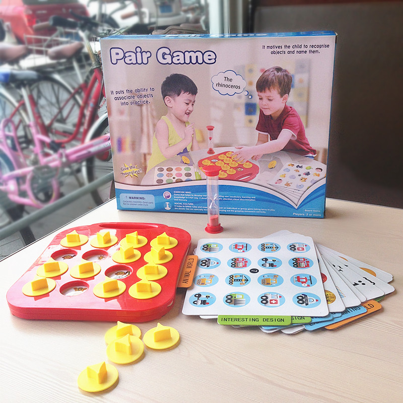 Intellectual Puzzles Pair Game Kids Toys Family Board