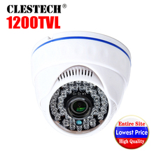 цена на 2019 Sale Real 1200tvl Cmos HD CCTV Camera IRCUT infrared Night Vision Wide Angle indoor HOME Dome security Surveillance vidicon