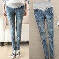 Buracos calças Jeans fino calças de maternidade para grávidas gravidez