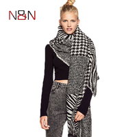 f7edaae7339 Fashion Winter Scarf Women Bandana Scarf Women Tassel Print Thick Fashion  Pashmina Shawl Warm Wrap S