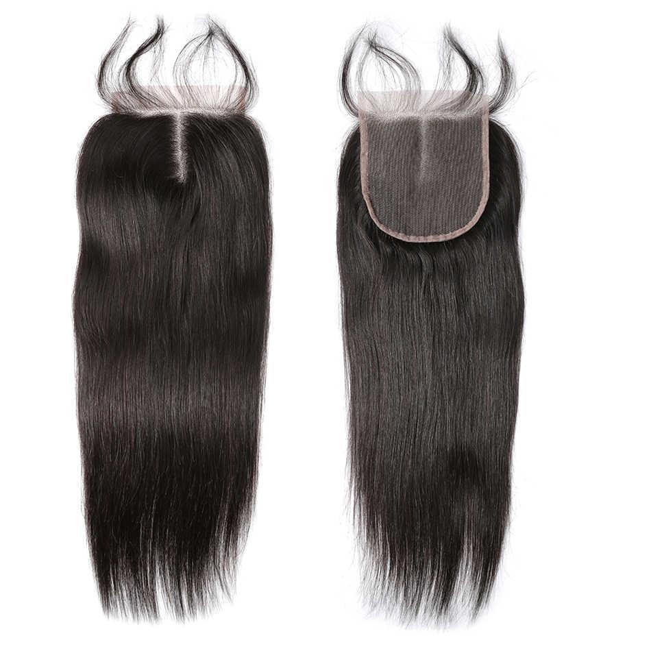 Cierre de encaje de pelo liso Rosabeauty 6x6 Cierre de cabello virgen humano con cabello de bebé medio/gratis/3 parte envío gratuito