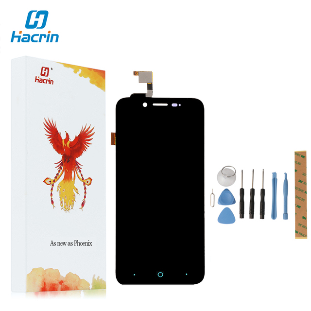 Hacrin For ZTE Blade L4 A460 LCD Display+Touch Screen Digitizer Screen Glass Panel For ZTE Blade L4 A460/ For ZTE Blade D T610