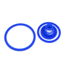 купить 5 PCS Fit 19-108mm OD Welding SMS Union Blue Silicone Gasket Washer Sealing Ring Homebrew Repair Repacement дешево