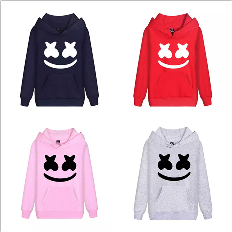 ZSQH DJ Marshmello Hoodies 6 color Sweatshirts DJ Marshmello Cosplay Costume For women&Men Cute Marshmallow costume boy and girl
