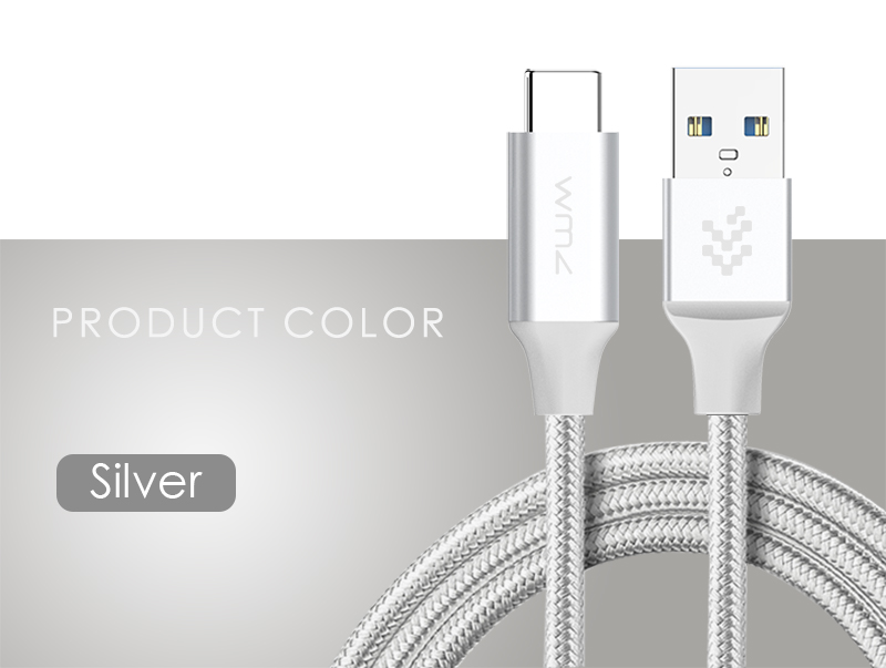 USB Type-C 3.0 Red Braided Cable 15